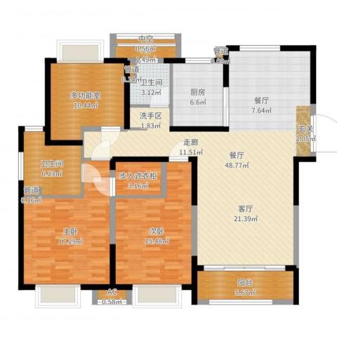 保利星海屿参赛2室1厅2卫1厨150.00㎡户型图