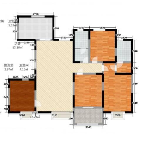 新河金都花园4室2厅2卫1厨189.00㎡户型图