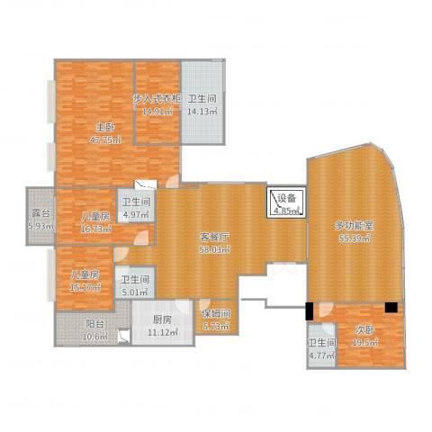 万科翡翠滨江4室2厅4卫1厨368.00㎡户型图