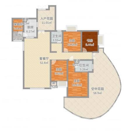 湘江豪庭4室2厅2卫1厨239.00㎡户型图