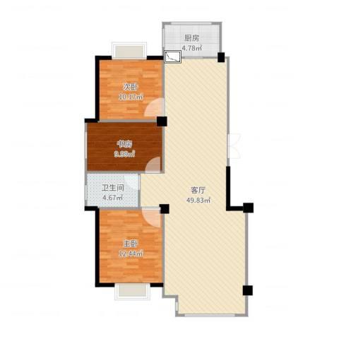 南郡天下御园3室1厅1卫1厨115.00㎡户型图