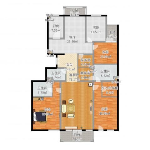 亚运新新家园4室2厅3卫1厨248.00㎡户型图