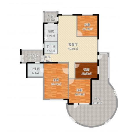 舟山普陀山海华府4室2厅2卫1厨240.00㎡户型图