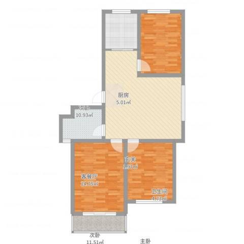 长峰尚海湾3室2厅1卫1厨108.00㎡户型图