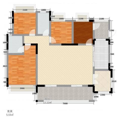 逸境新城4室2厅2卫1厨134.00㎡户型图
