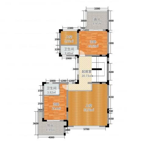 五矿龙湾国际社区2室0厅2卫0厨258.00㎡户型图