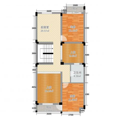 五矿龙湾国际社区2室0厅1卫0厨216.00㎡户型图