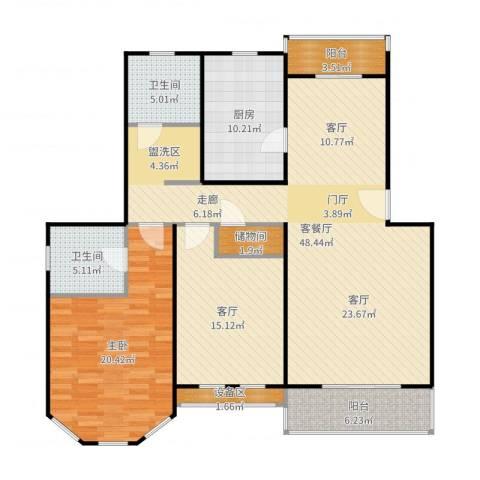成事高邸1室3厅2卫1厨147.00㎡户型图