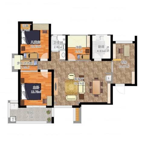 融侨天骏4室2厅1卫1厨115.00㎡户型图