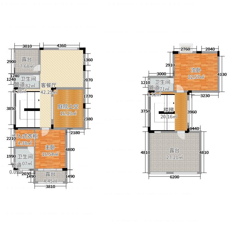 恒大帝景322.00㎡3栋B6户型4室4厅4卫1厨