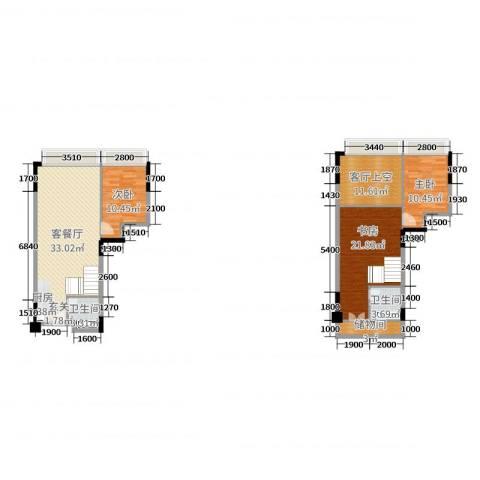 敏捷伊顿公馆3室2厅2卫0厨97.36㎡户型图