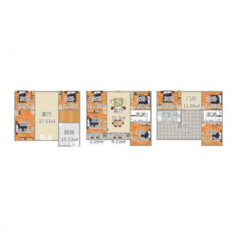 鼎峰尚境别墅9室2厅1卫1厨383.00㎡户型图