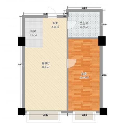 远洋壹中心1室2厅1卫0厨71.00㎡户型图