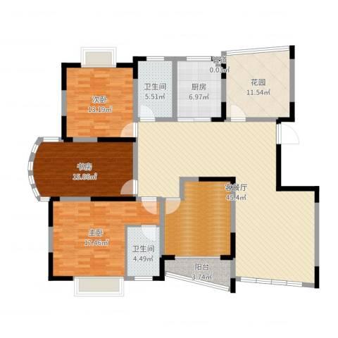中远欧洲城3室2厅2卫1厨170.00㎡户型图