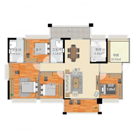 侨城水岸5室1厅2卫1厨125.00㎡户型图