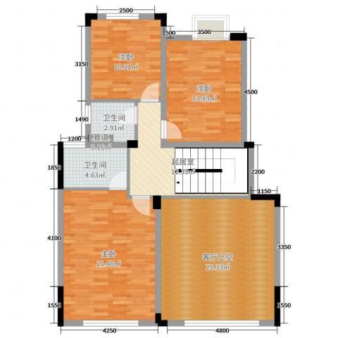 金地湖山大境3室0厅2卫0厨333.00㎡户型图