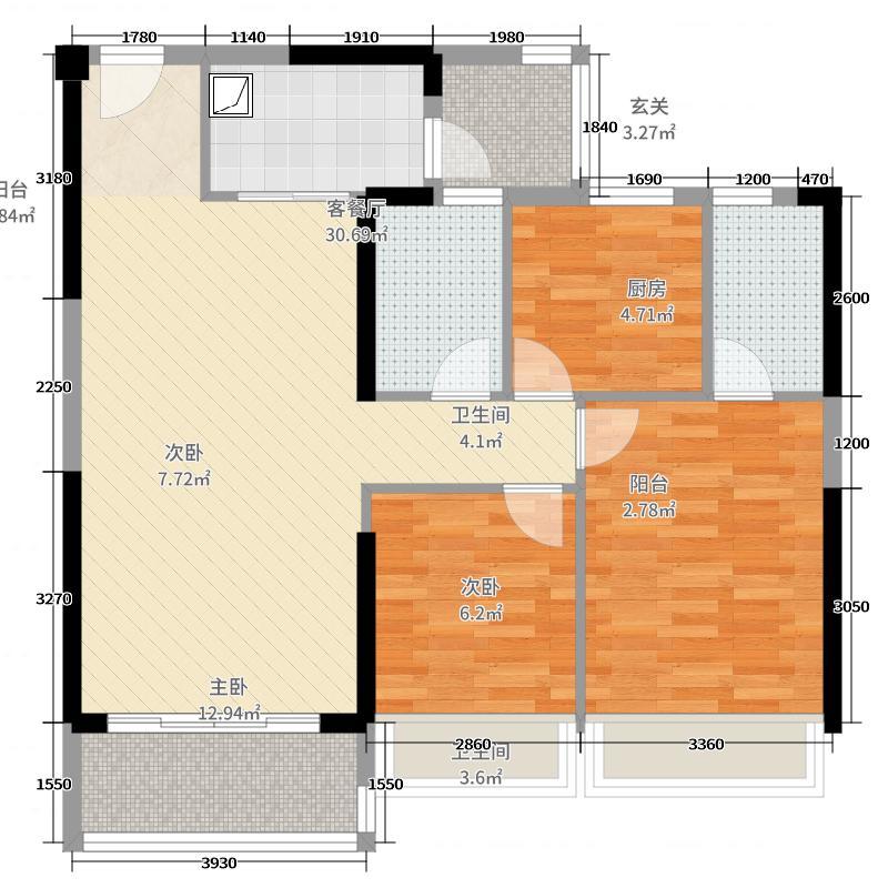 保利红馆1号楼01户型