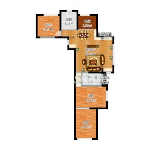 京东花园4室2厅1卫1厨94.40㎡户型图