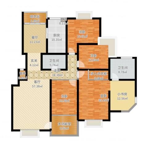 曲江兰亭4室1厅2卫1厨176.87㎡户型图