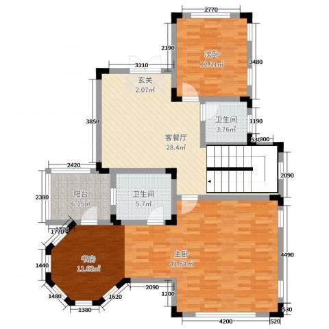 华侨花园2室2厅2卫0厨265.00㎡户型图