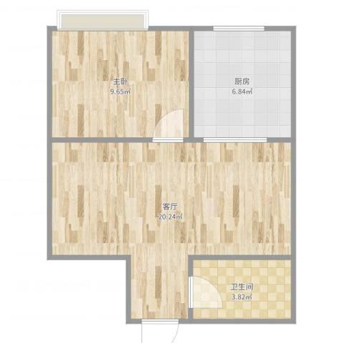 欧典・宏峪1室1厅1卫1厨51.00㎡户型图