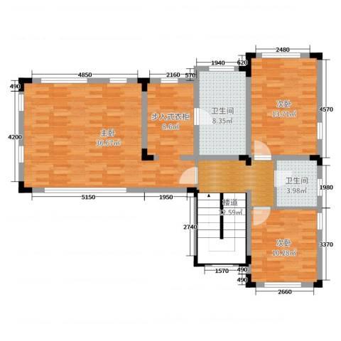 华侨花园3室0厅2卫0厨313.00㎡户型图