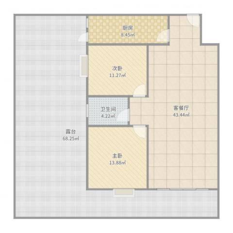 水禾园D区2室2厅1卫1厨187.00㎡户型图