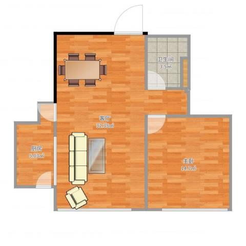 北京财富中心二期1室1厅1卫1厨70.00㎡户型图