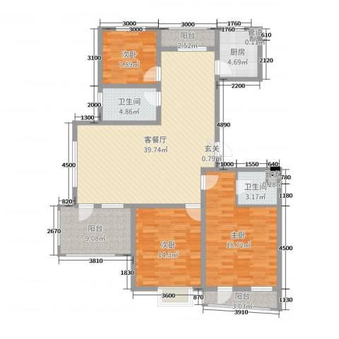 利源幸福��3室2厅2卫1厨139.00㎡户型图