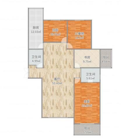 阳光丽城4室1厅2卫1厨180.00㎡户型图