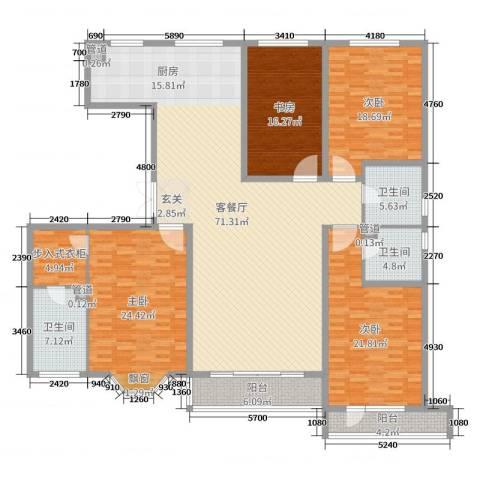 城市维也纳4室2厅3卫0厨232.00㎡户型图
