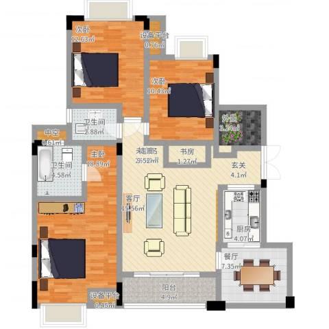 广厦城 广厦城・洛卡庄园4室1厅2卫1厨146.00㎡户型图