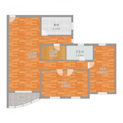 兴联大厦2室2厅1卫1厨131.00㎡户型图
