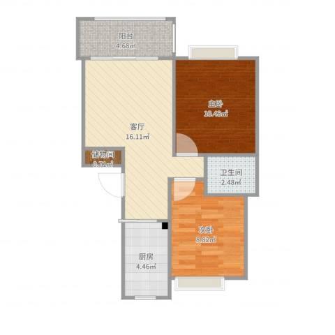 菊泉小区2室1厅1卫1厨60.00㎡户型图