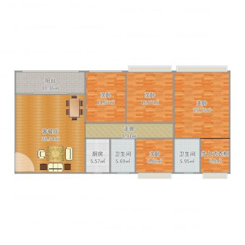 弘龙商业城4室2厅2卫1厨184.00㎡户型图