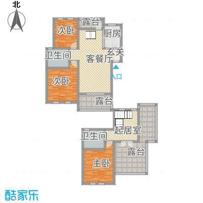 CLD未来城四期112.41㎡B1跃层户型3室2厅2卫1厨