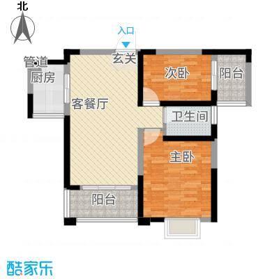 长江绿岛88.00㎡户型