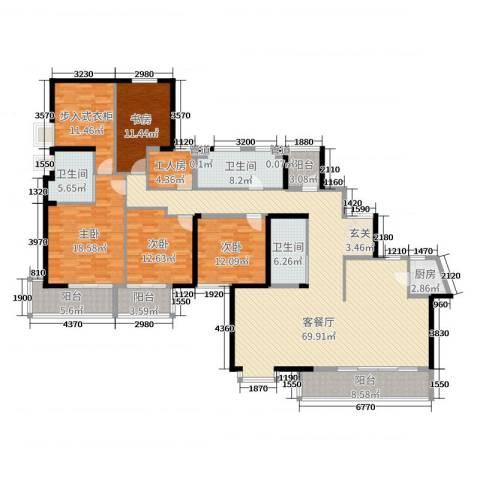 山水湖滨花园二期4室2厅3卫1厨231.00㎡户型图