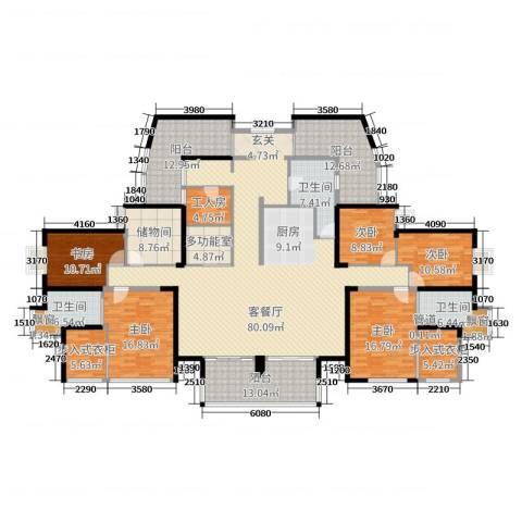 山水湖滨花园二期5室2厅3卫0厨291.00㎡户型图
