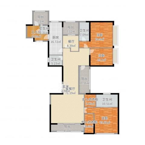 新天鹅堡3室3厅4卫1厨300.00㎡户型图