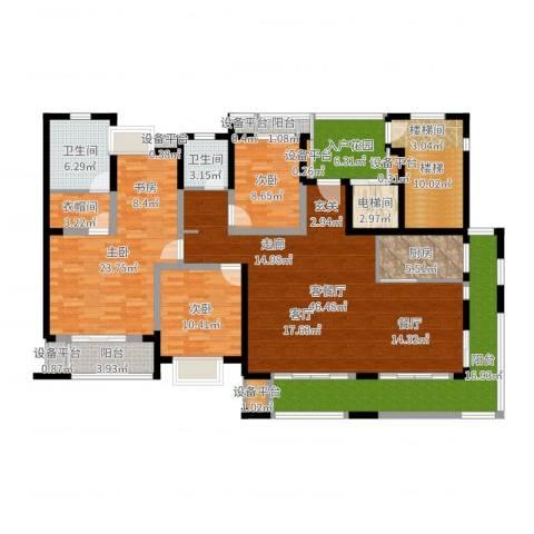 景瑞理想之光3室2厅2卫1厨151.92㎡户型图