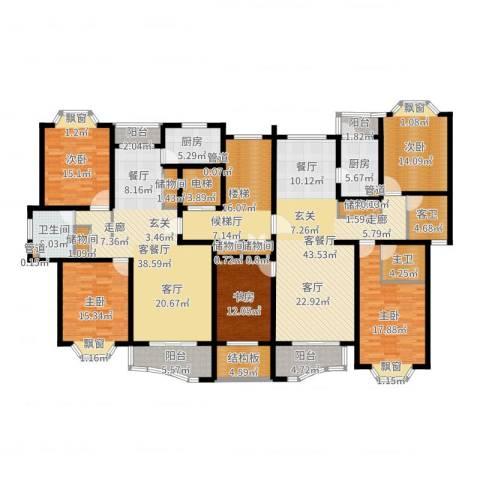 上大聚丰园二期5室4厅1卫2厨283.00㎡户型图