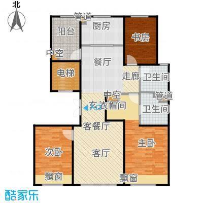 亦庄金茂悦132.00㎡一期1、5、9号楼A2户型3室2厅