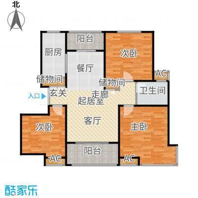 汇智湖畔家园110.00㎡B1户型3室2厅