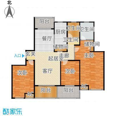 汇智湖畔家园148.00㎡D2户型3室2厅