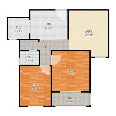 菏泽锦绣中华2室2厅1卫1厨112.00㎡户型图
