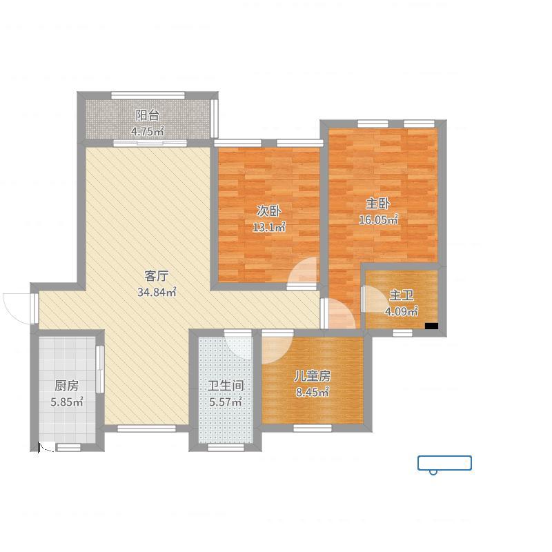陈巷小区--2房型全套效果图