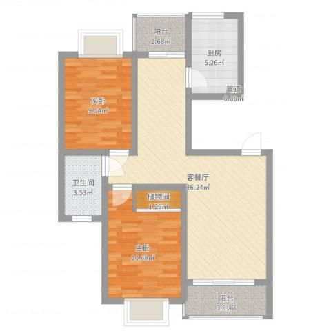 阳光迪金阁2室2厅1卫1厨79.00㎡户型图