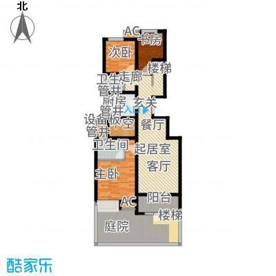 社会山2014123.00㎡洋房标准层B1户型3室2厅