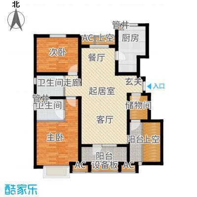 社会山2014118.00㎡洋房标准层A户型2室2厅